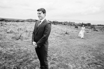 First Look at a wedding UK