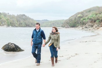pre wedding engagement shoot south devon