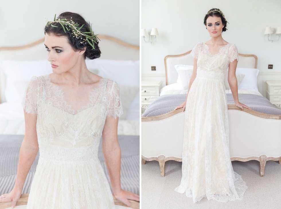 wedding bridal fashion styled shoot at pynes house