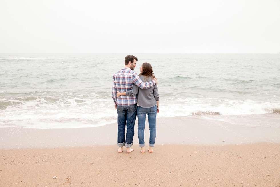 pre wedding engagement shoot devon beach