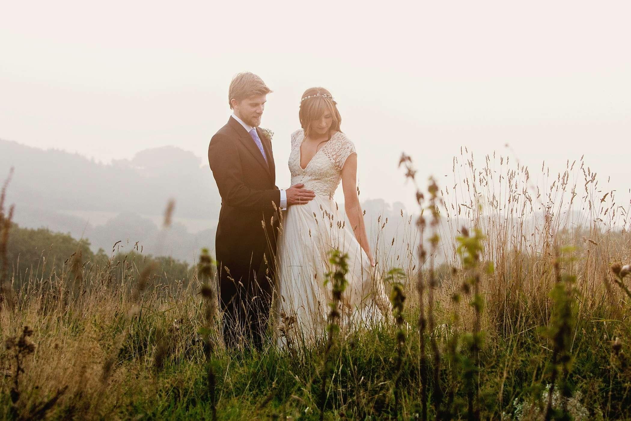 dusk at river cottage wedding