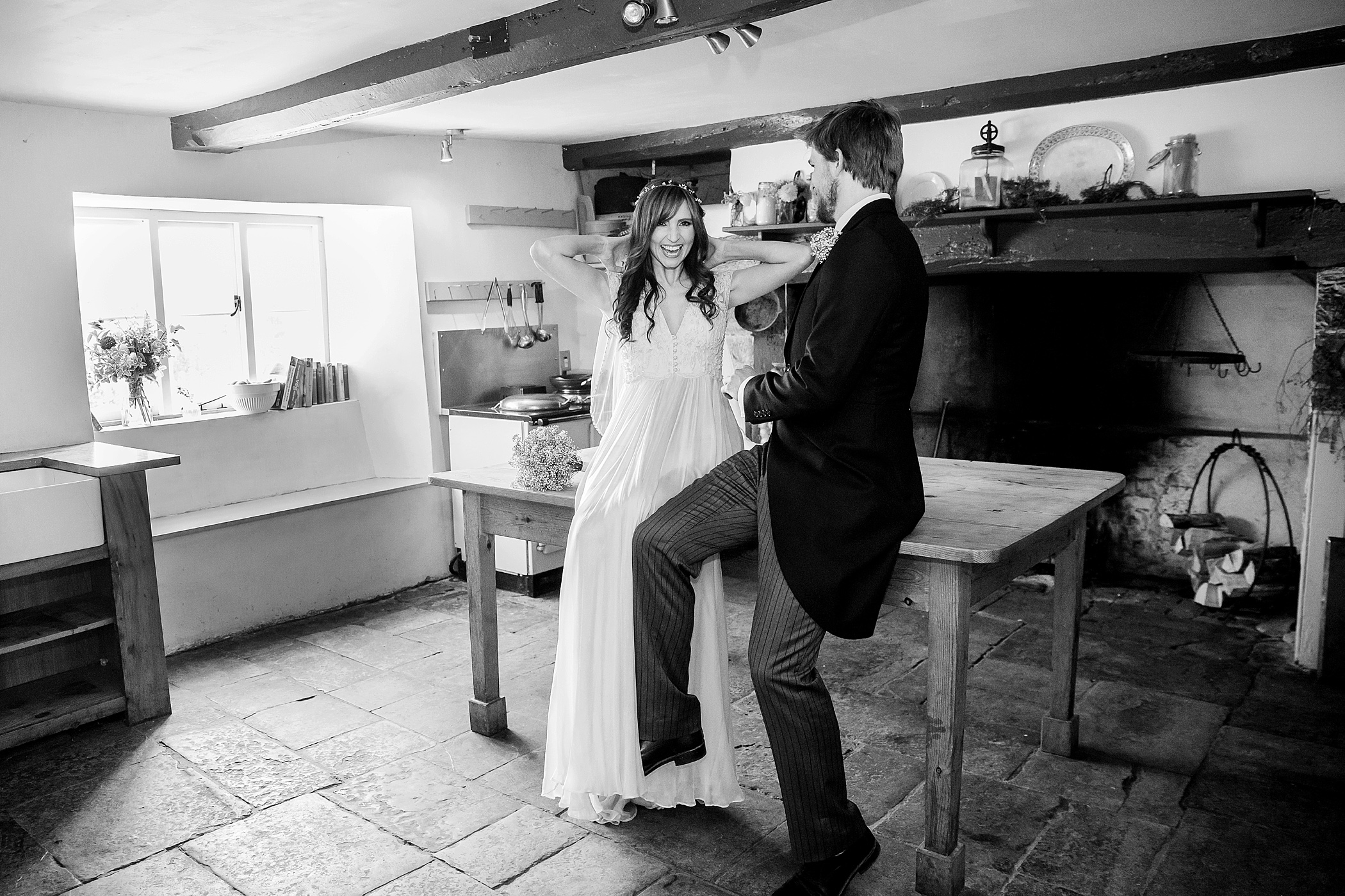 the famous kitchen at river cottage wedding