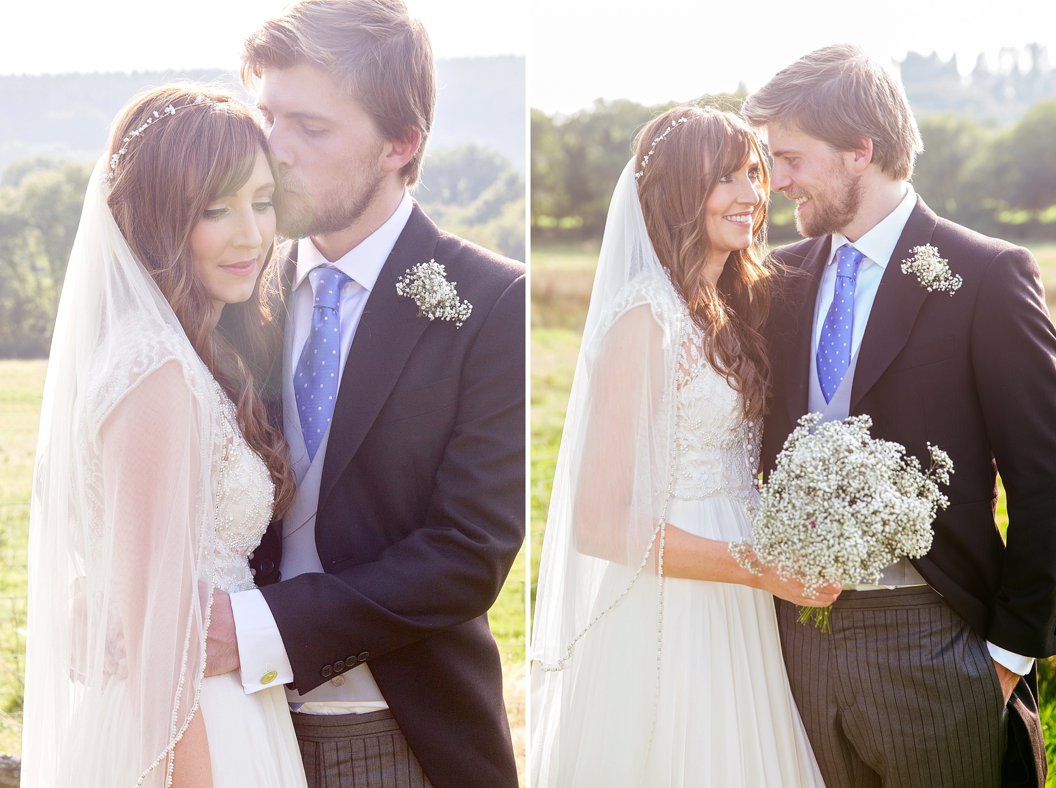 bride and groom portraits at River Cottage