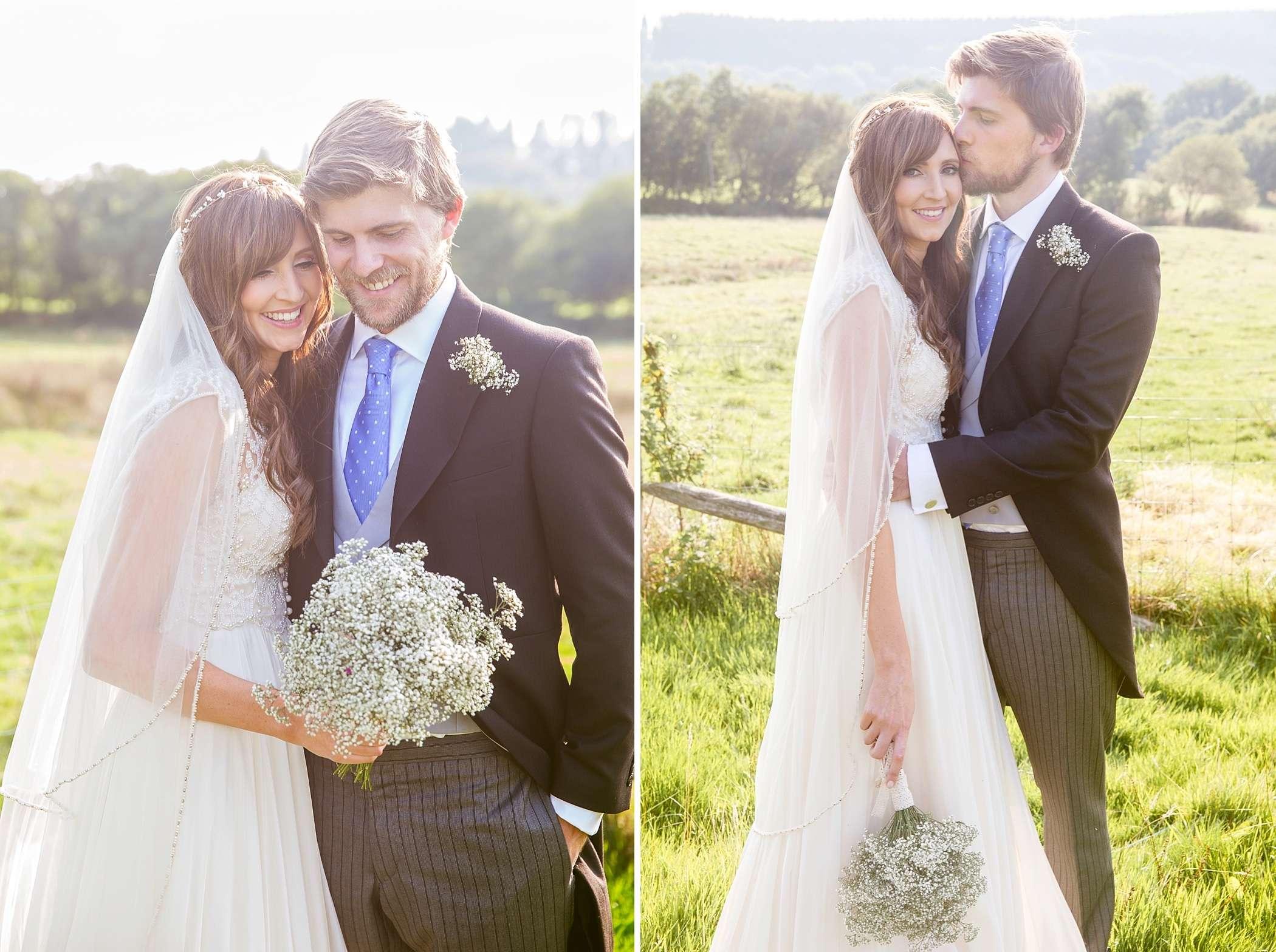 River Cottage wedding bride groom