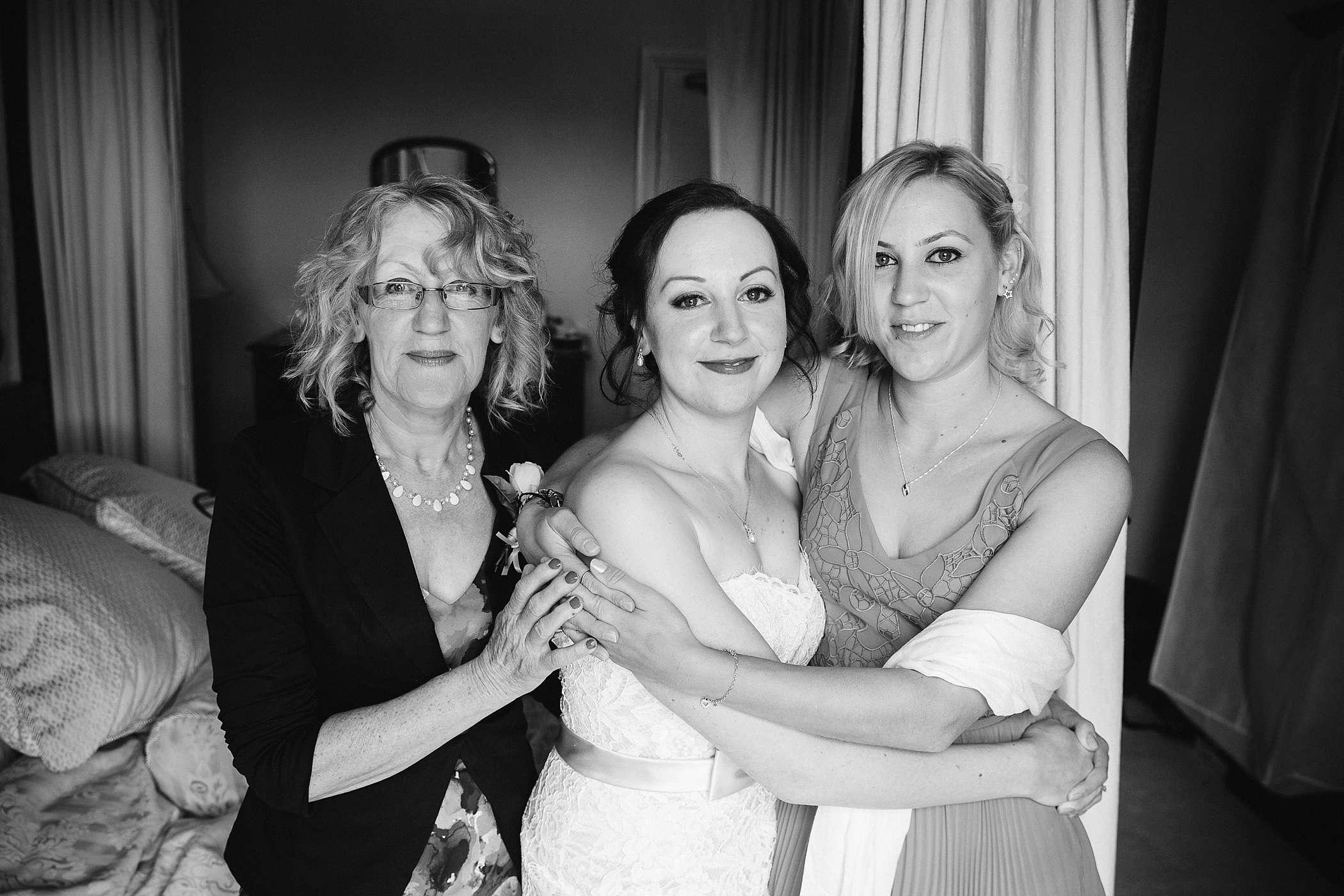 bridal preparations at Colehayes Park