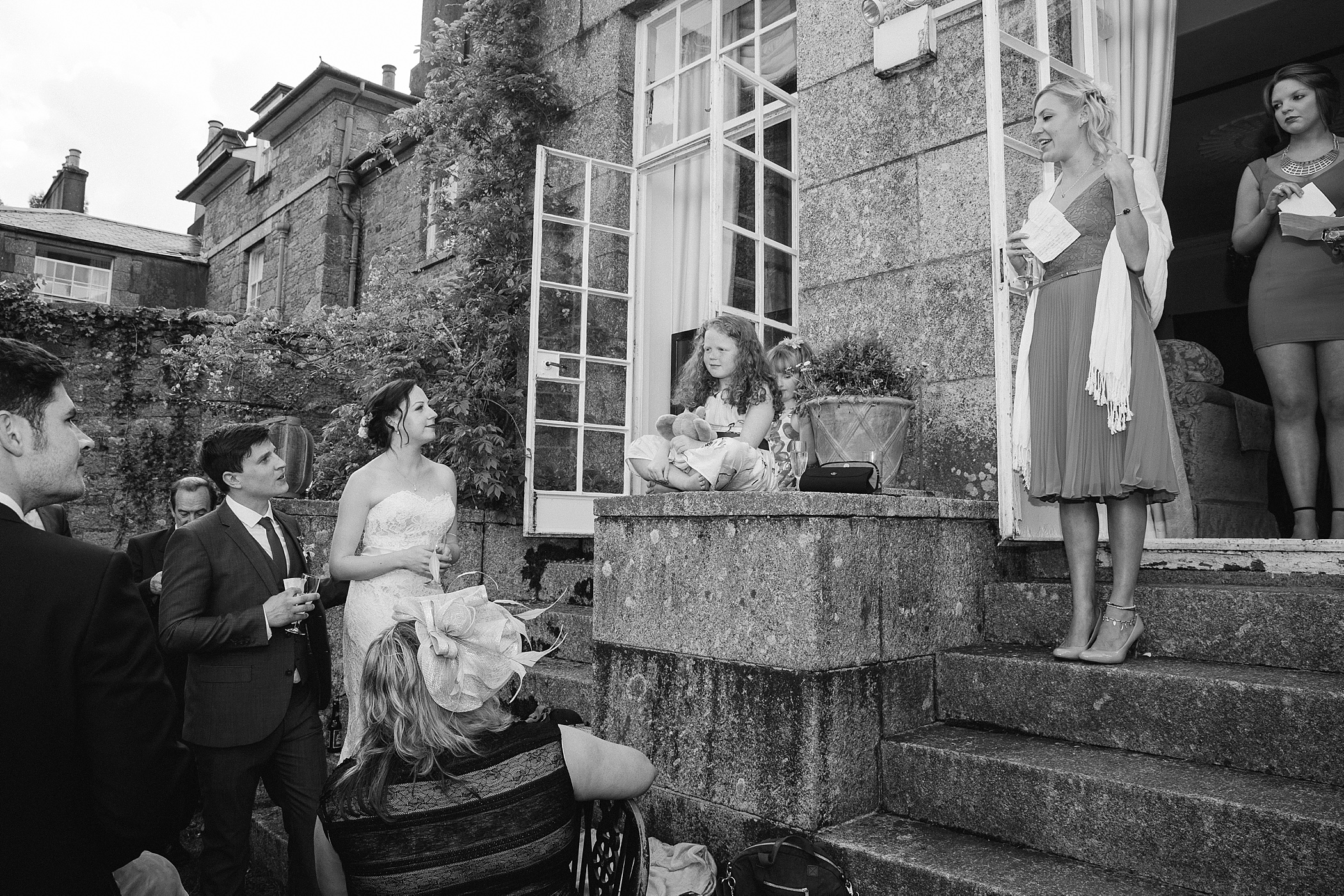 wedding speeches at Colehayes