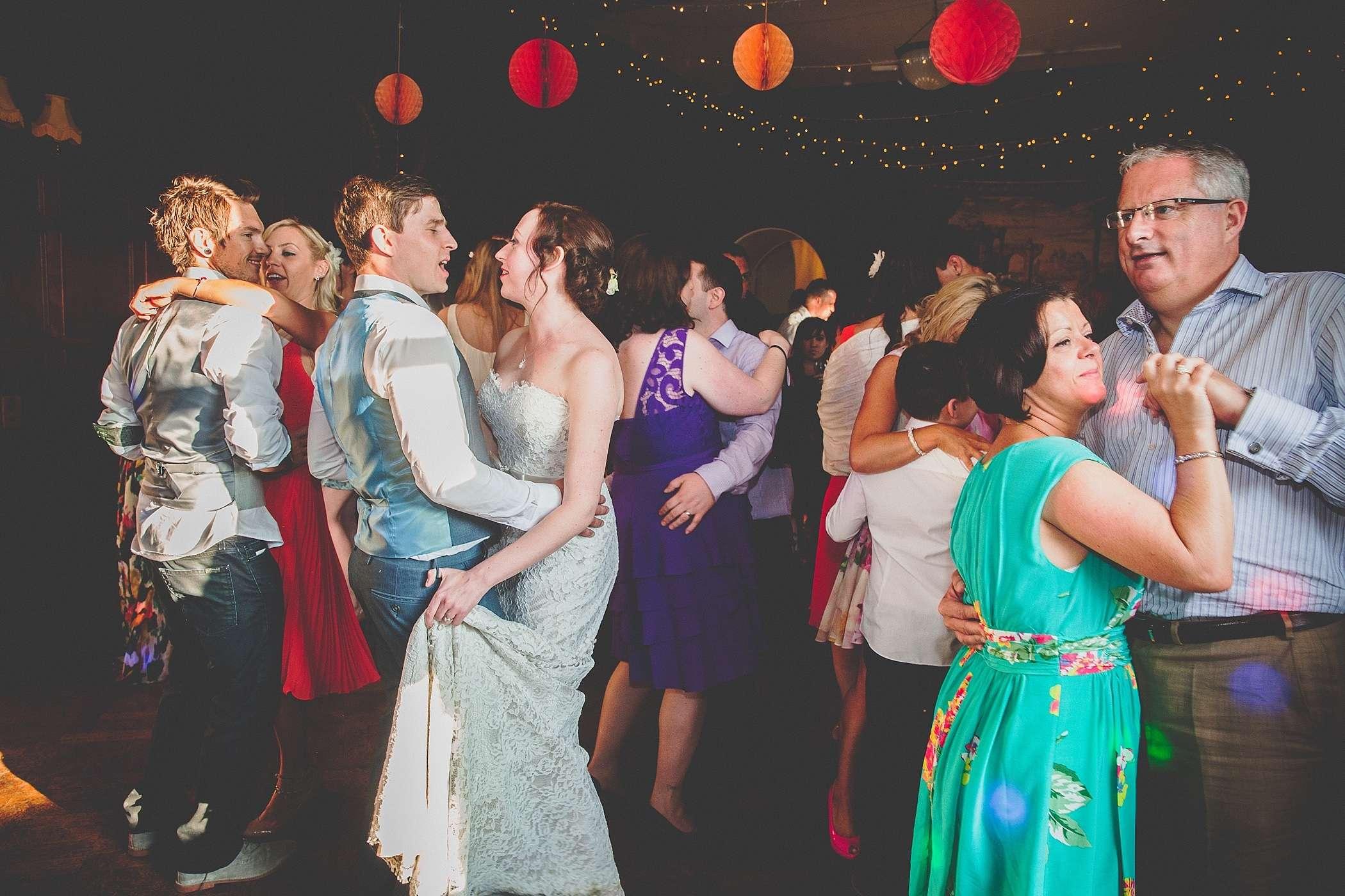 dancing at Devon wedding
