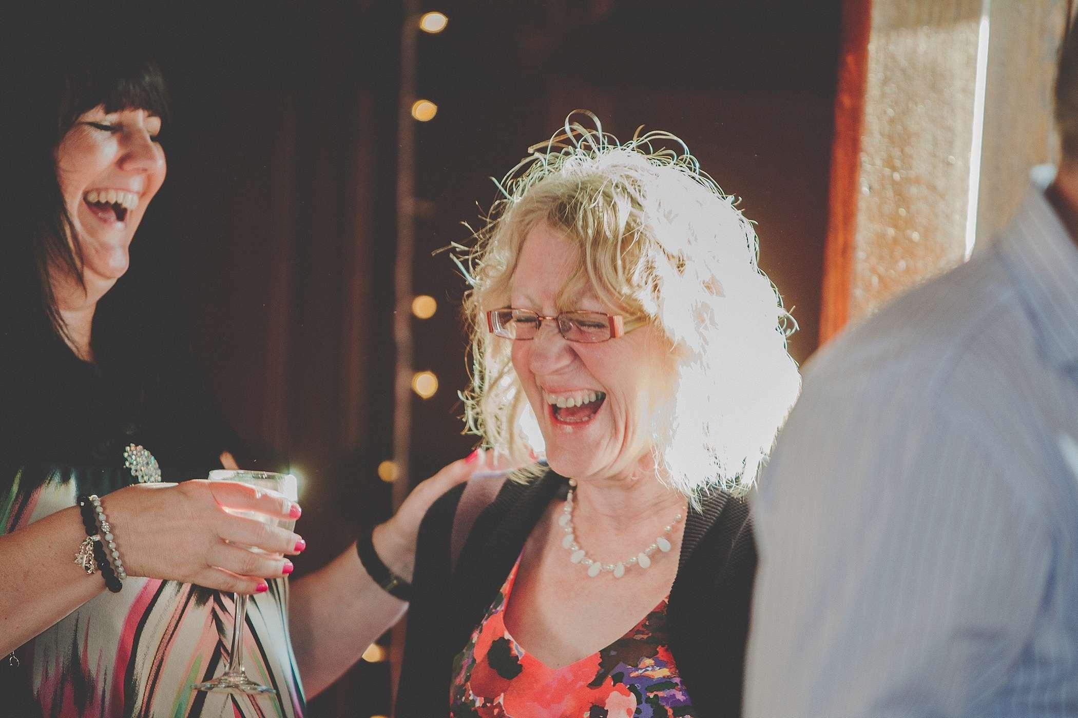laughter at Colehayes Wedding