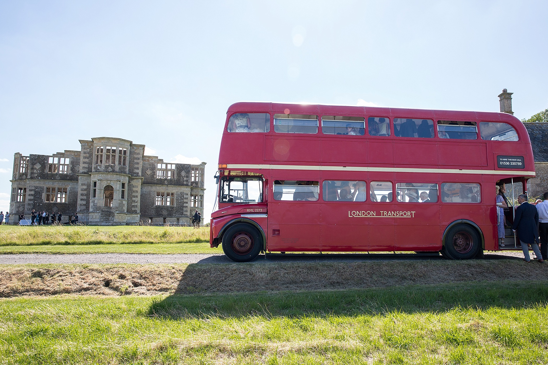 Lyveden New Bield Wedding London Bus