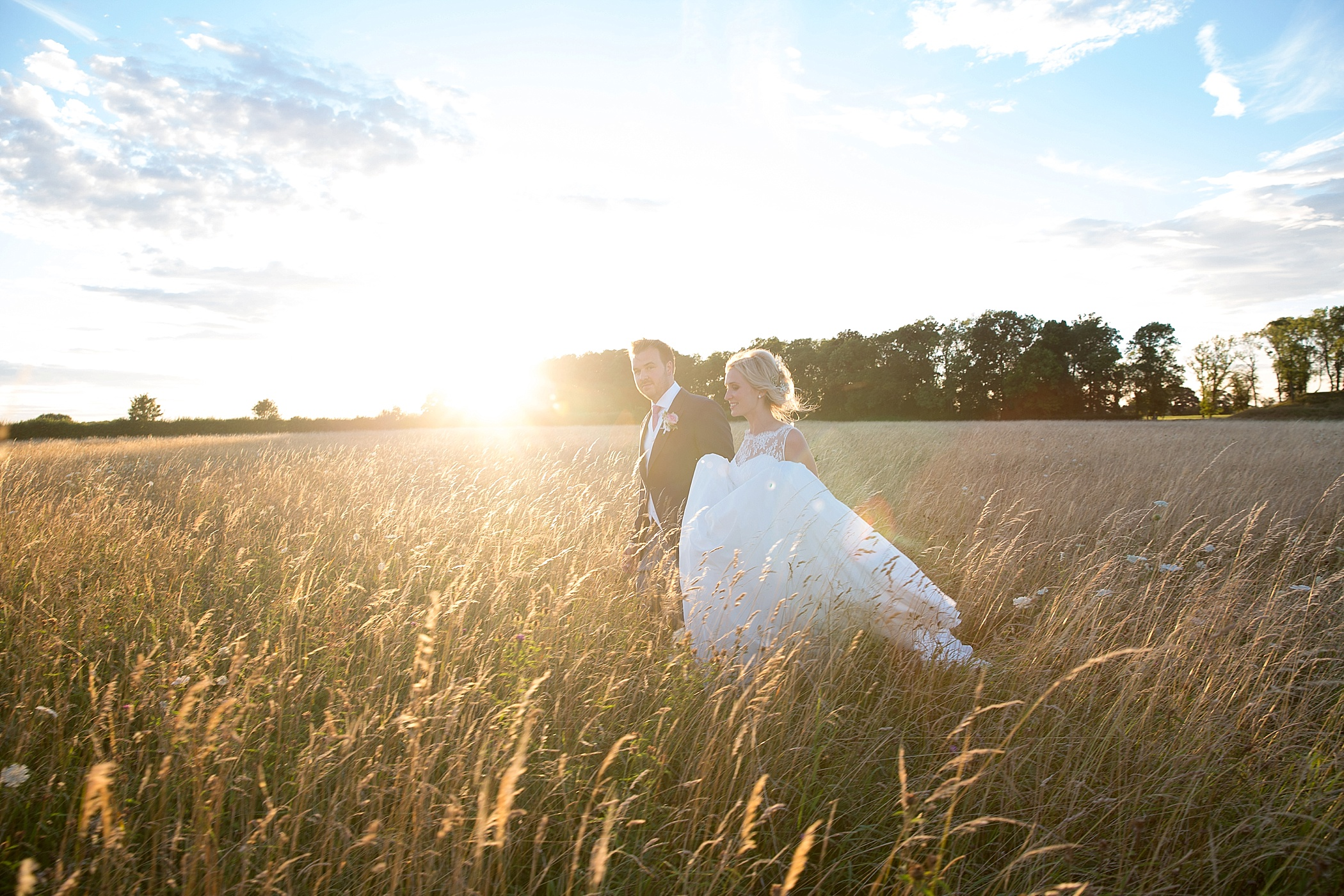 Lyveden New Bield sunset wedding