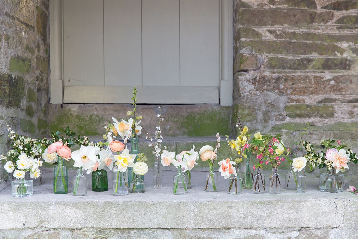 Mini flower jars. Photo Mckenzie Brown Photography