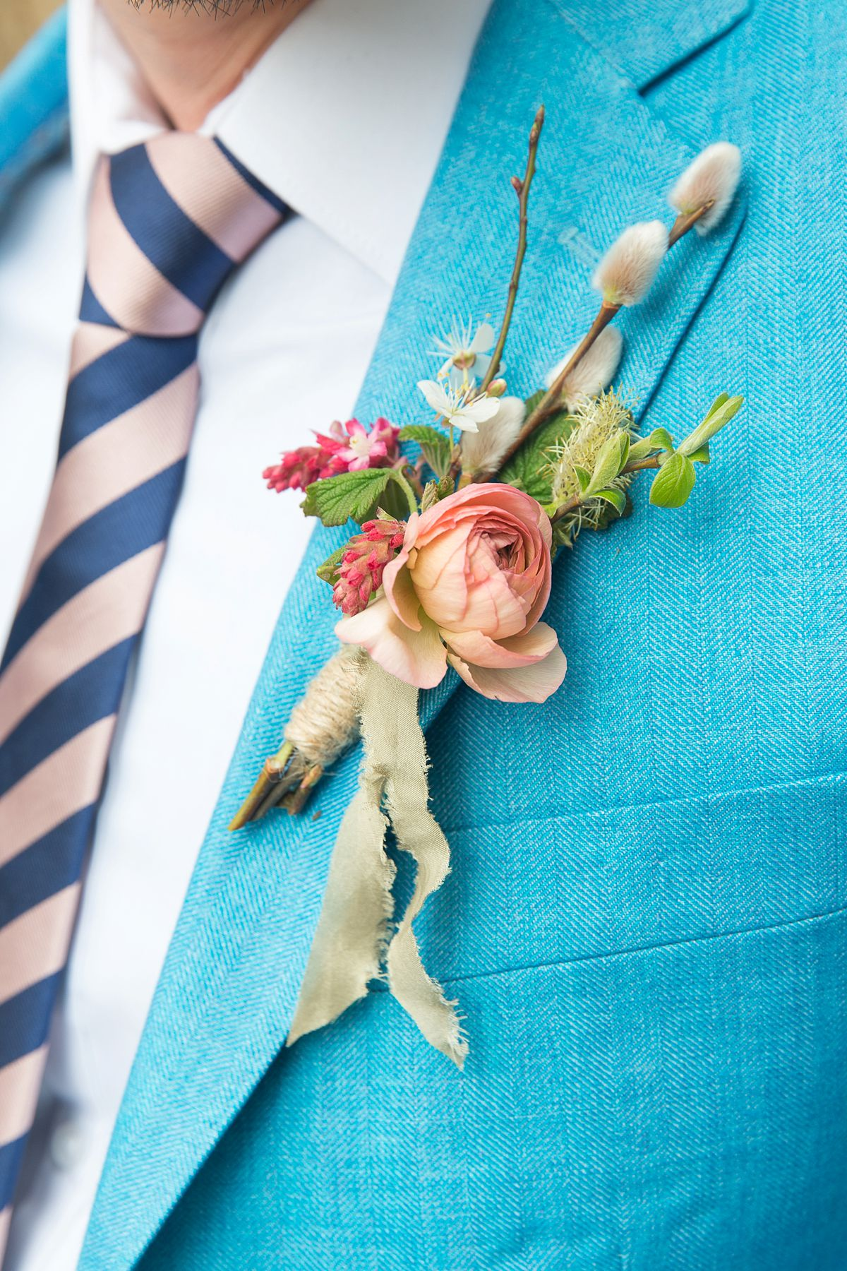 Spring Buttonhole by The Flower Mill. Photo Mckenzie Brown Photography
