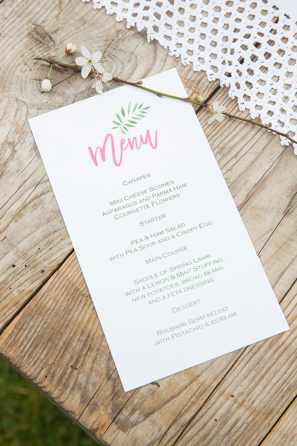 Knots & Kisses created the stationery to compliment the botanical theme with rustic twine and an elegant use of text and colour.