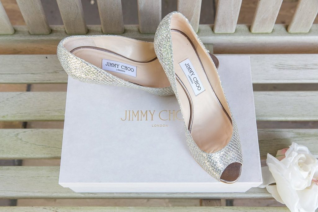 Jimmy Choo shoes wedding photography