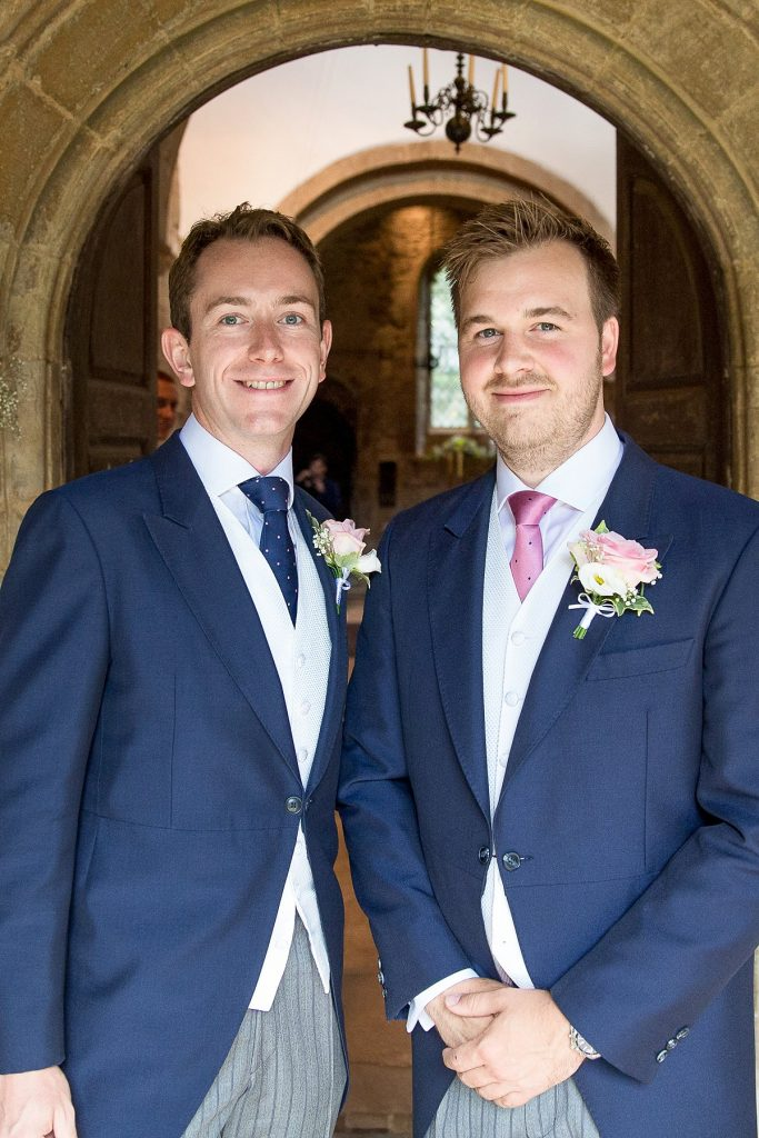 Groom and Best Man at Lyveden New Biled wedding by Mckenzie Brown Photography