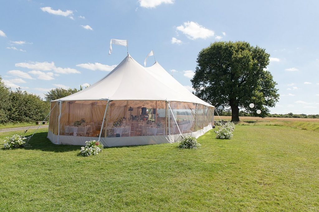 marquee at lyveden New Bield