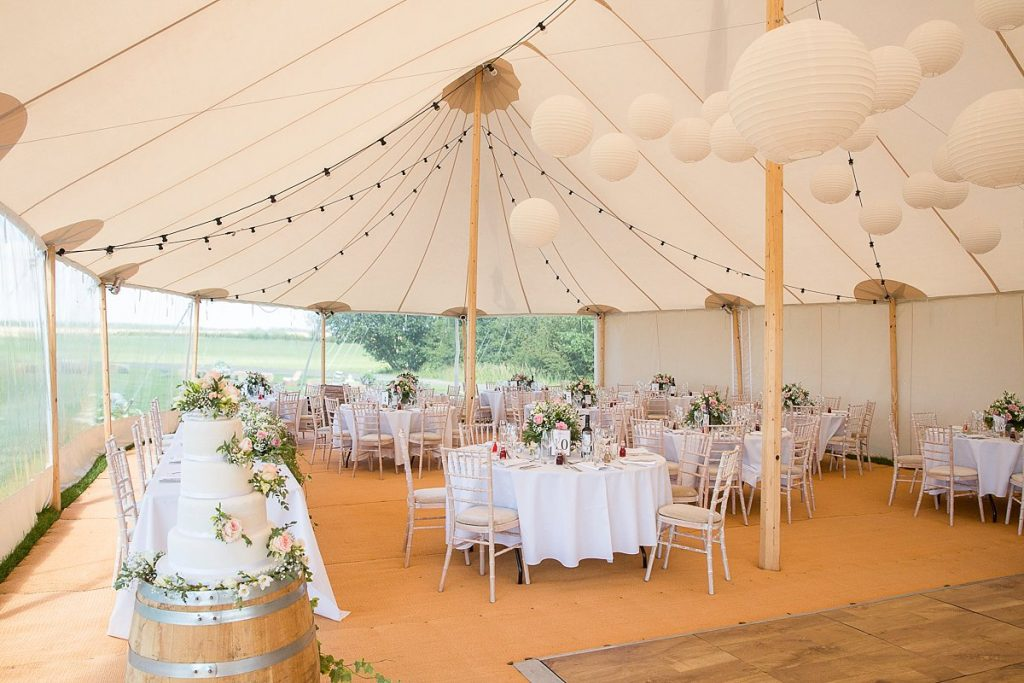 wedding marquee at Lyveden New Bield by Mckenzie Brown Photography