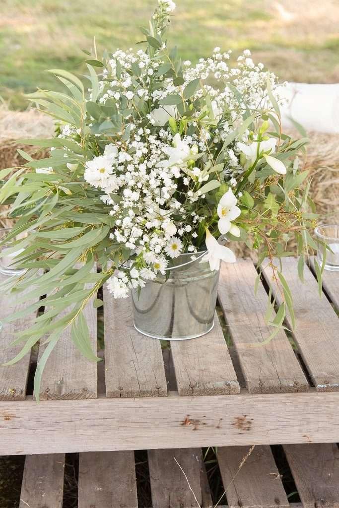 white flower wedding