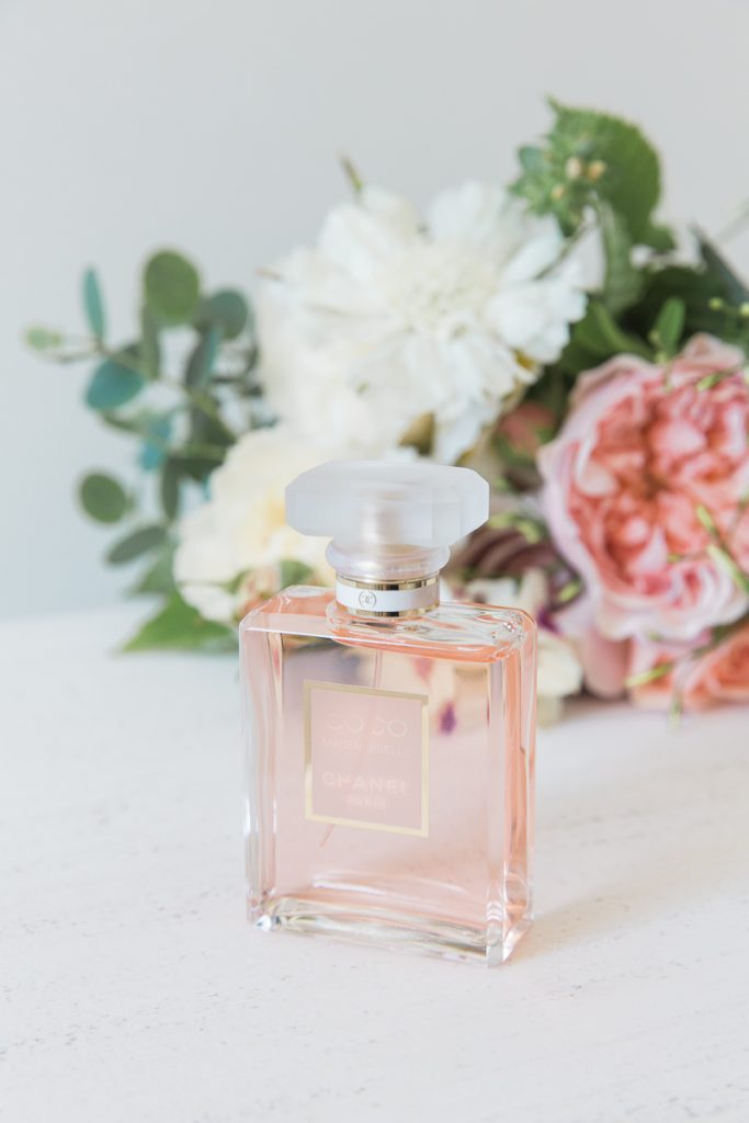 bridal perfume at Pynes House wedding in Devon by Mckenzie Brown Photography