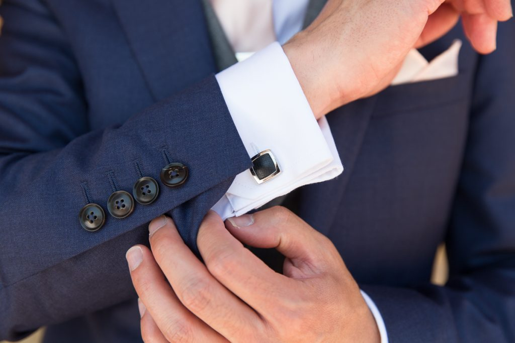 wedding cufflinks groom at Pynes House wedding Mckenzie brown Photography