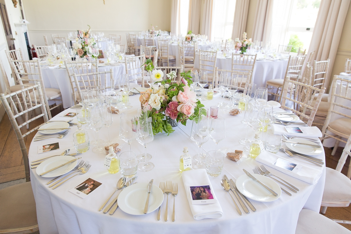 Tables at Pynes House wedding