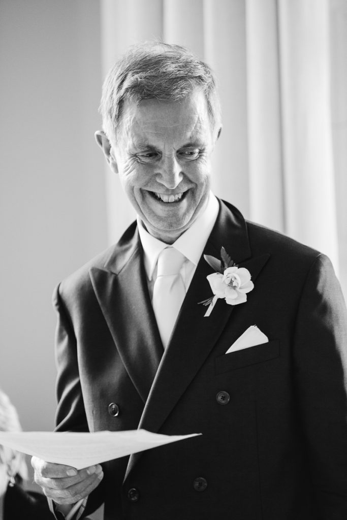 father of the bride gives speech at pynes house exeter