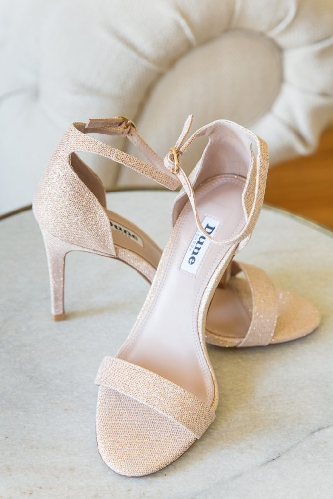 wedding shoes at Pynes House wedding in Devon by Mckenzie Brown Photography