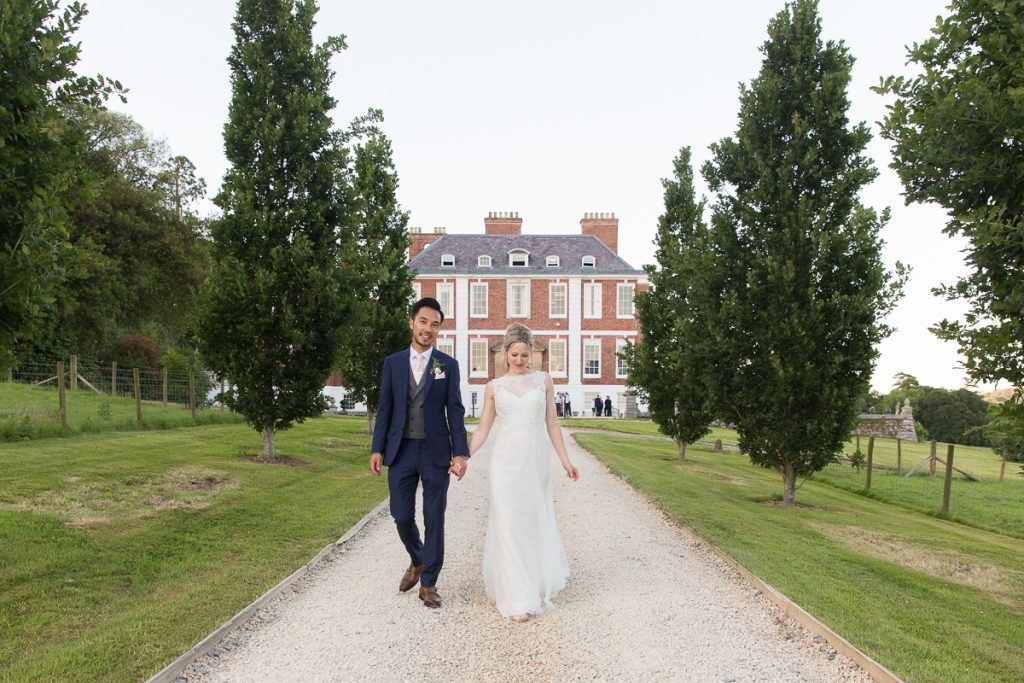 wedding in front of pynes house devon