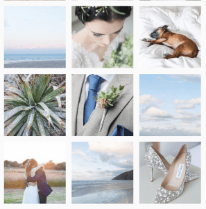 wedding images on Instagram