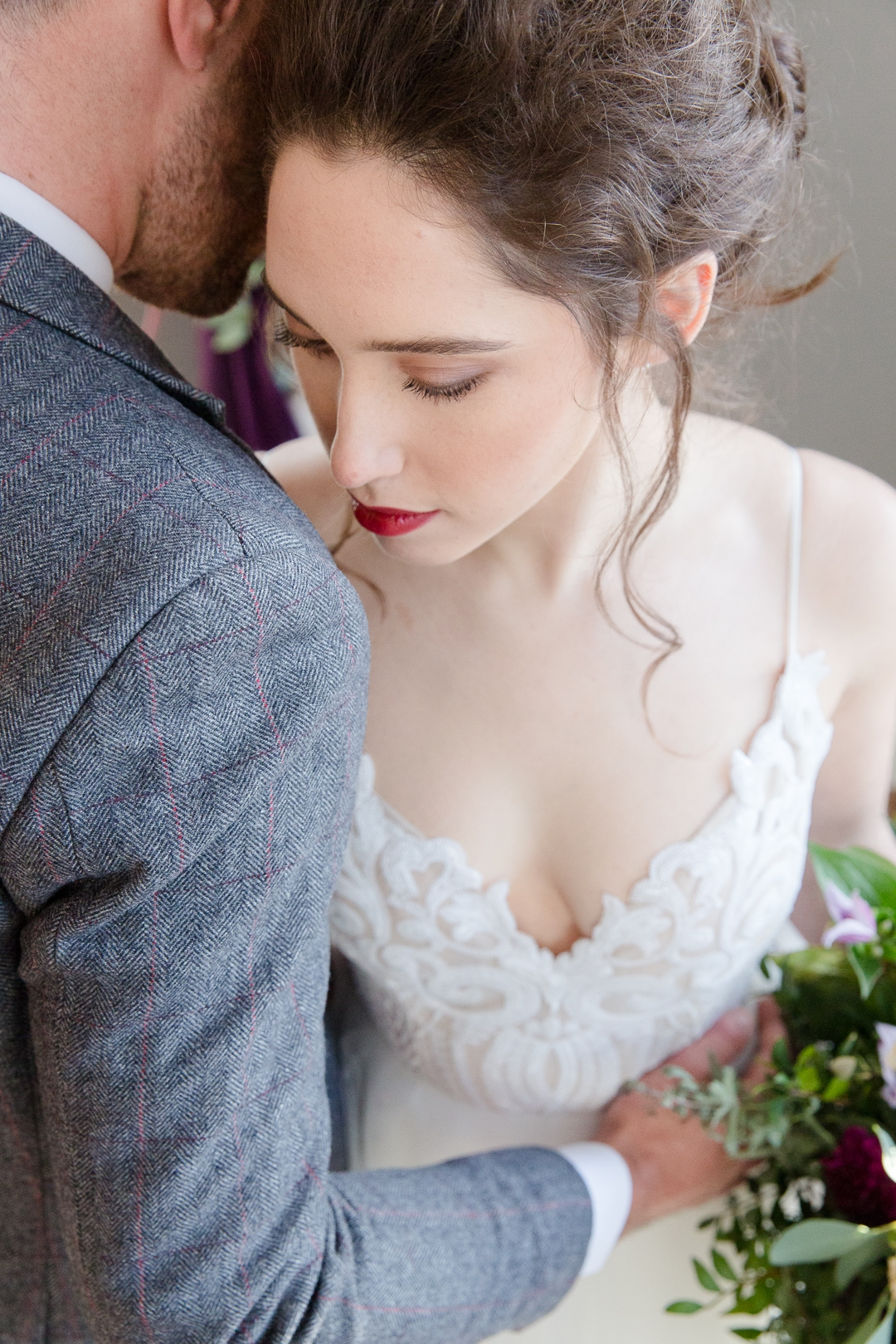 burgundy lips wedding make-up inspiration