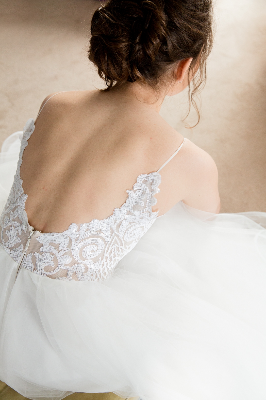back of Hayley Paige wedding dress