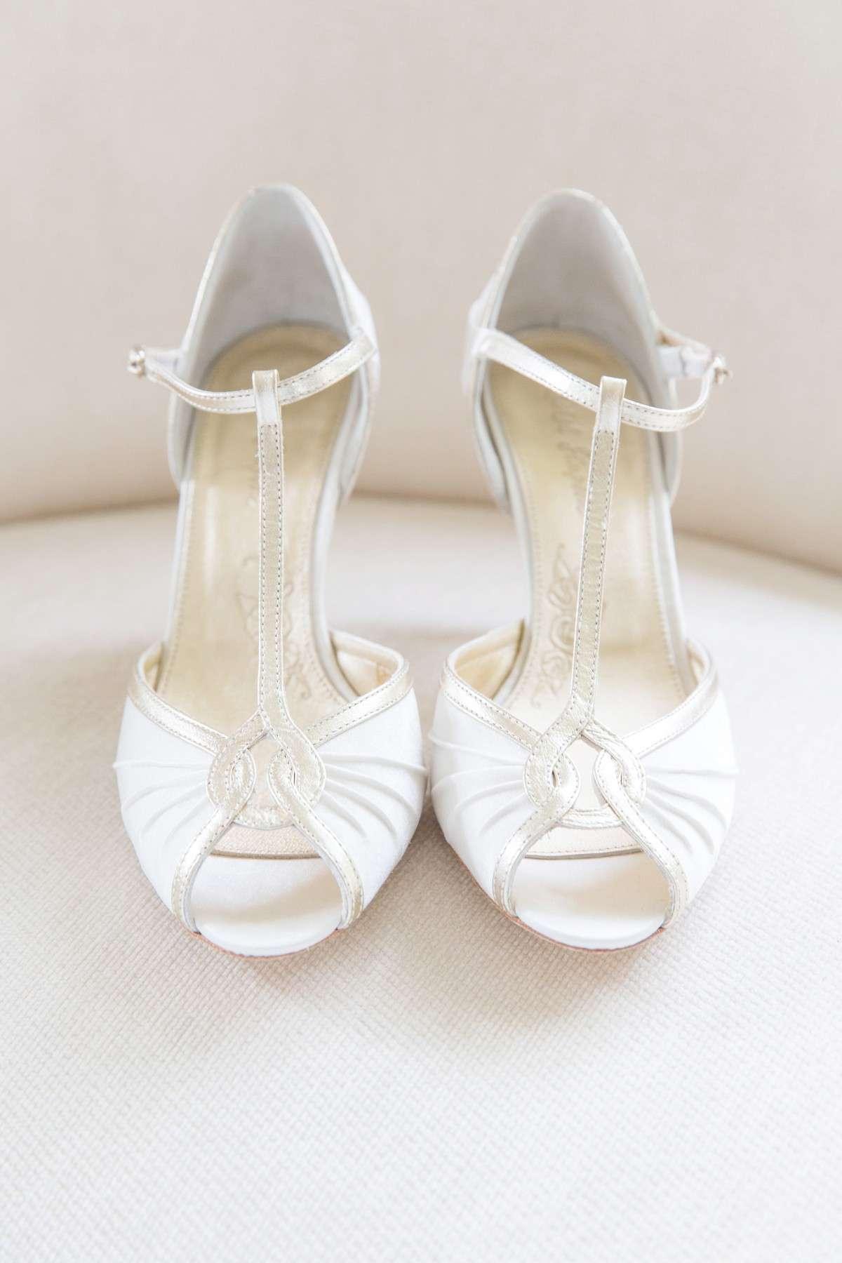 cream wedding shoes