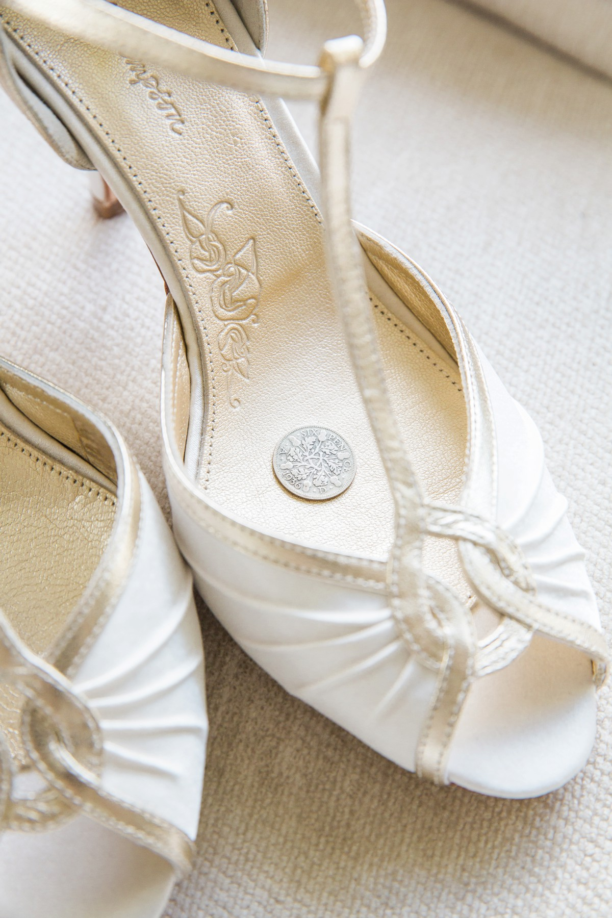 six pence in wedding shoe