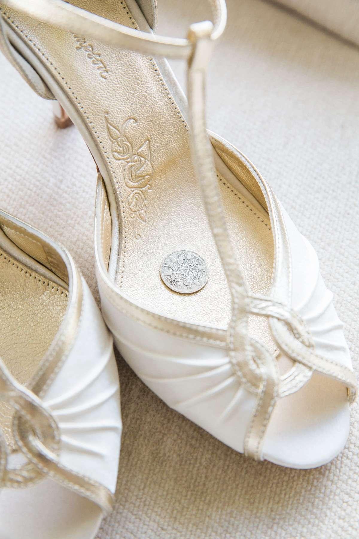 six pence in wedding shoe