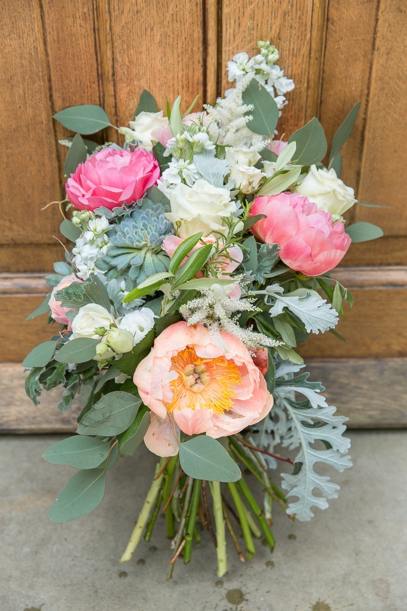 bridal bouquet at Nymans Garden wedding