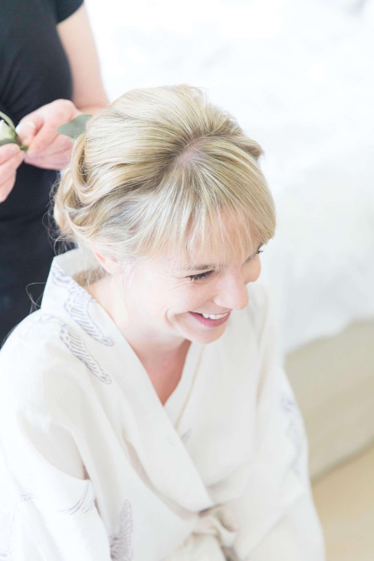 wedding hair and make up getting ready shot