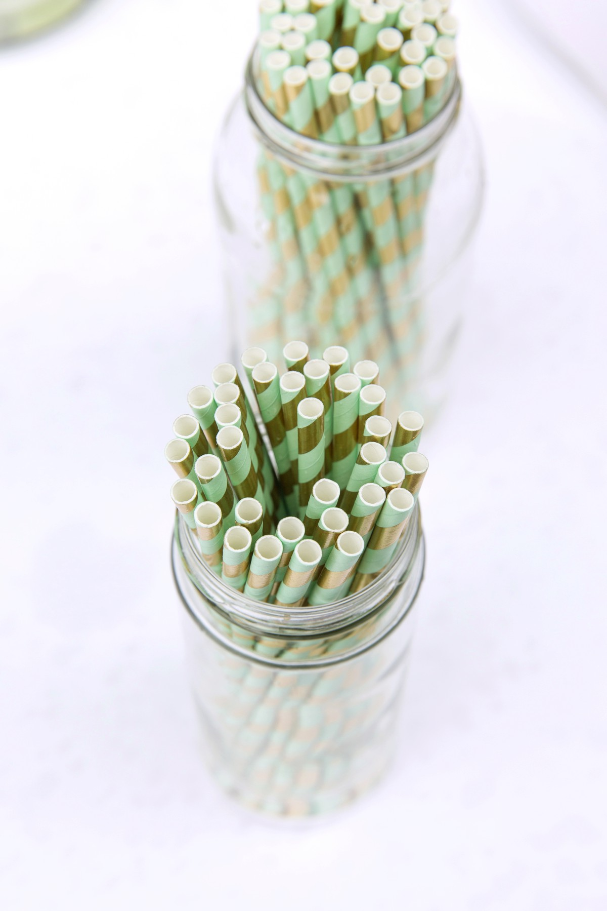 stripy wedding straws
