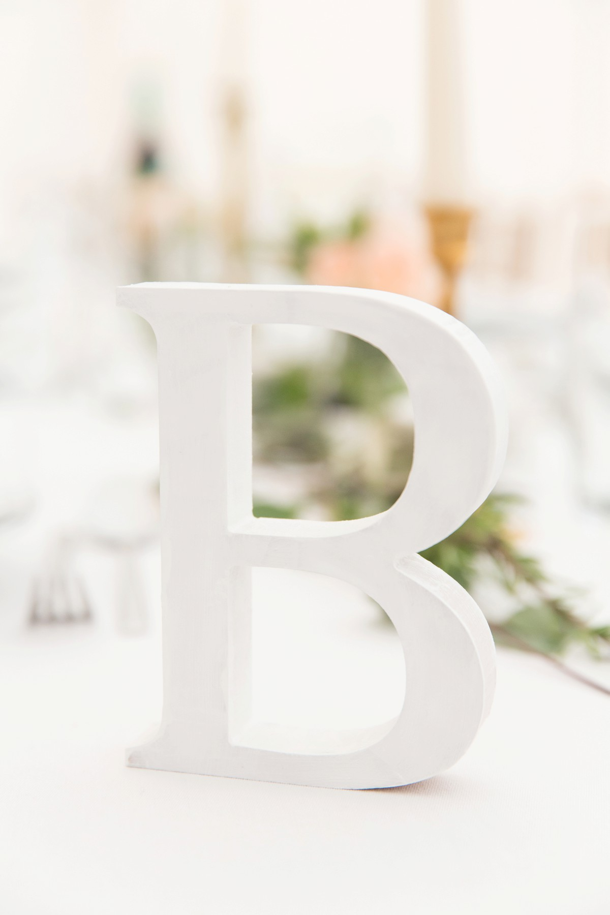 alphabet table centrepiece