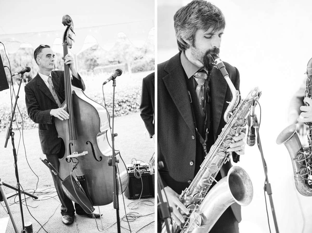 black and white photo of jazz band
