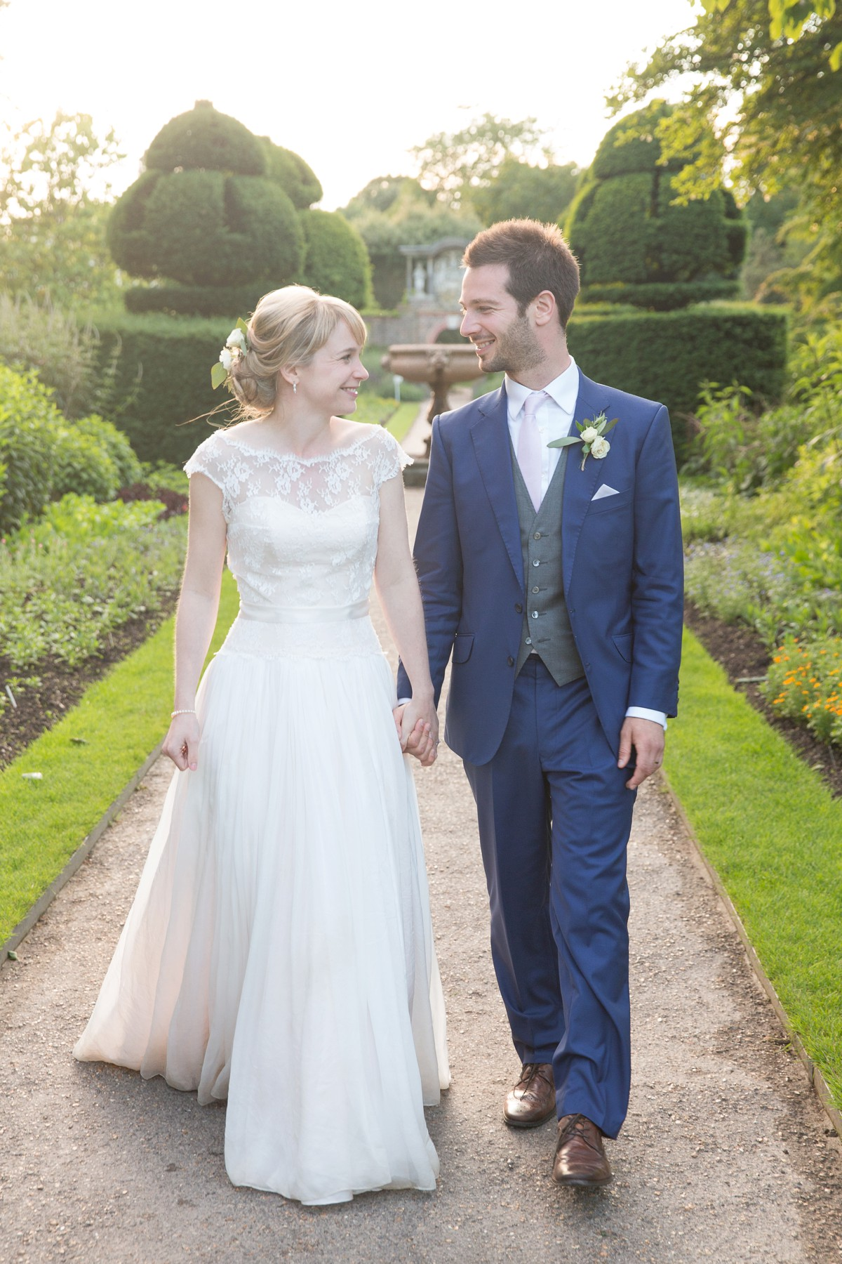 wedding at Nymans Garden