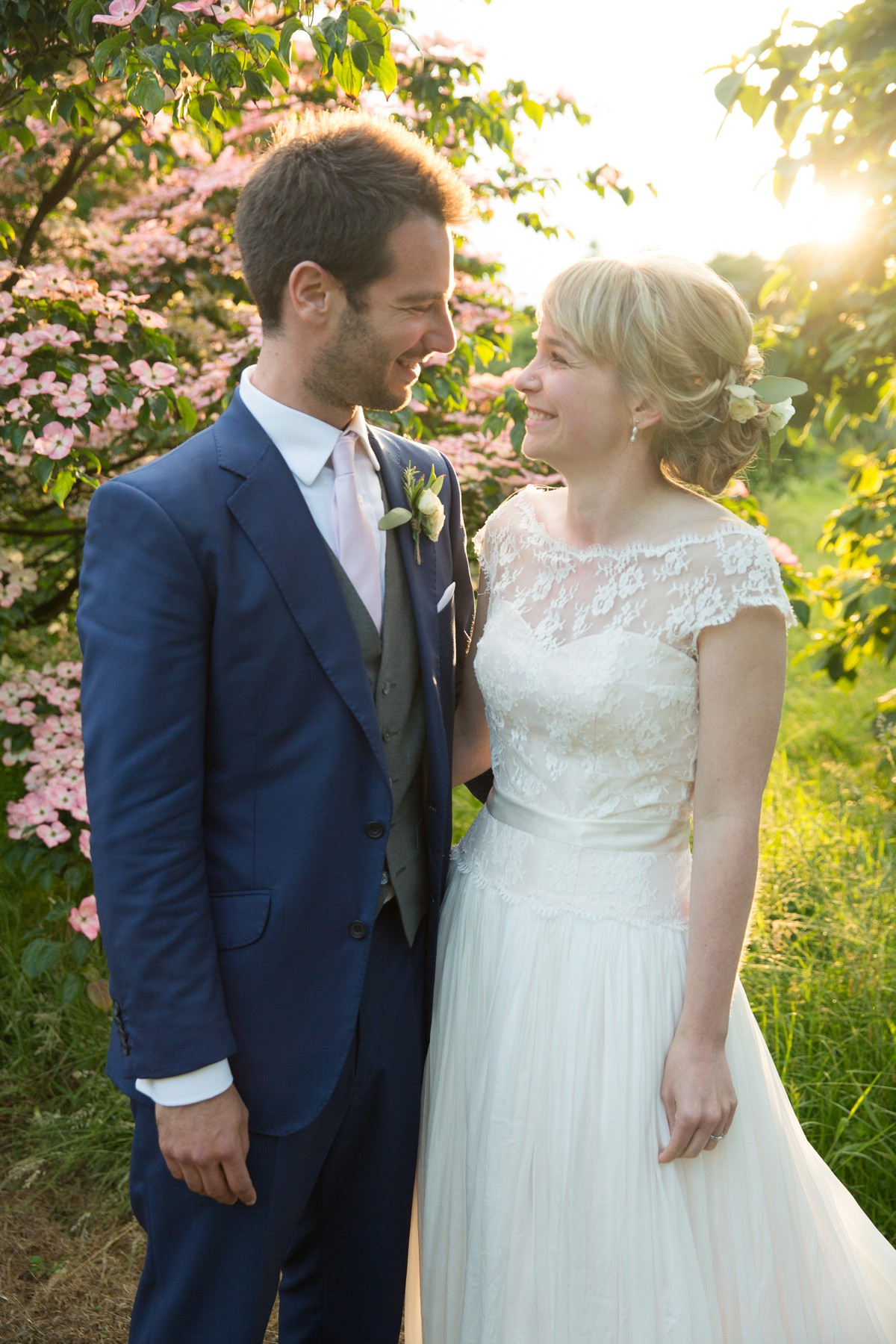 bride and groom at Nymans National Trust wedding