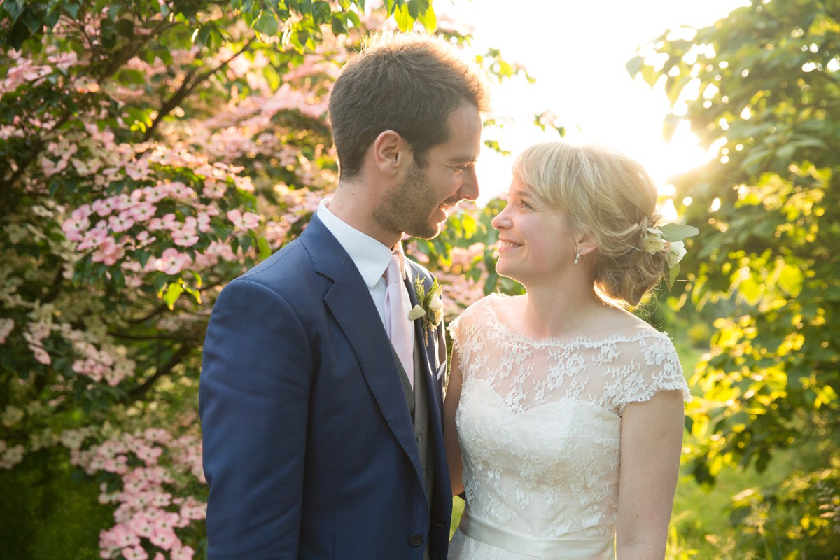 bride and groom at Nymans