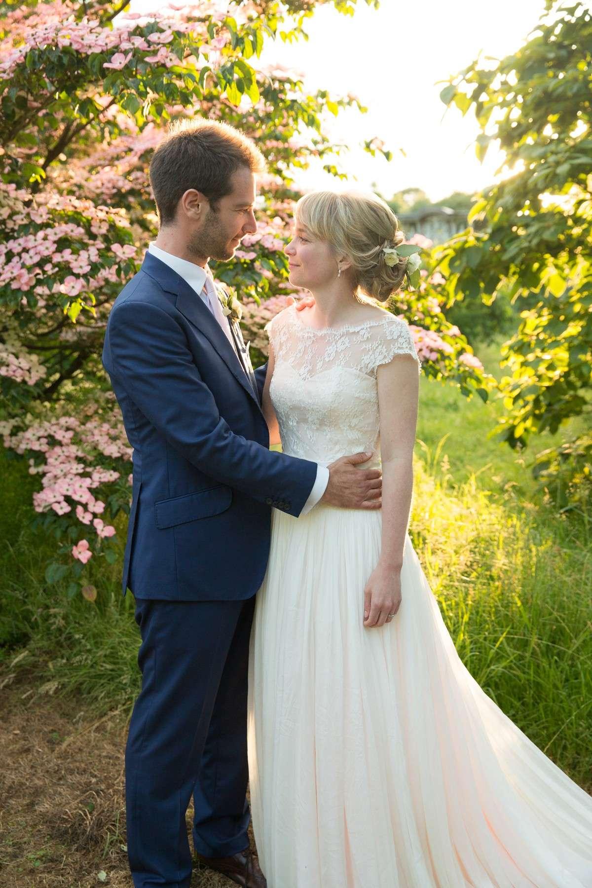 wedding couple at National Trust wedding