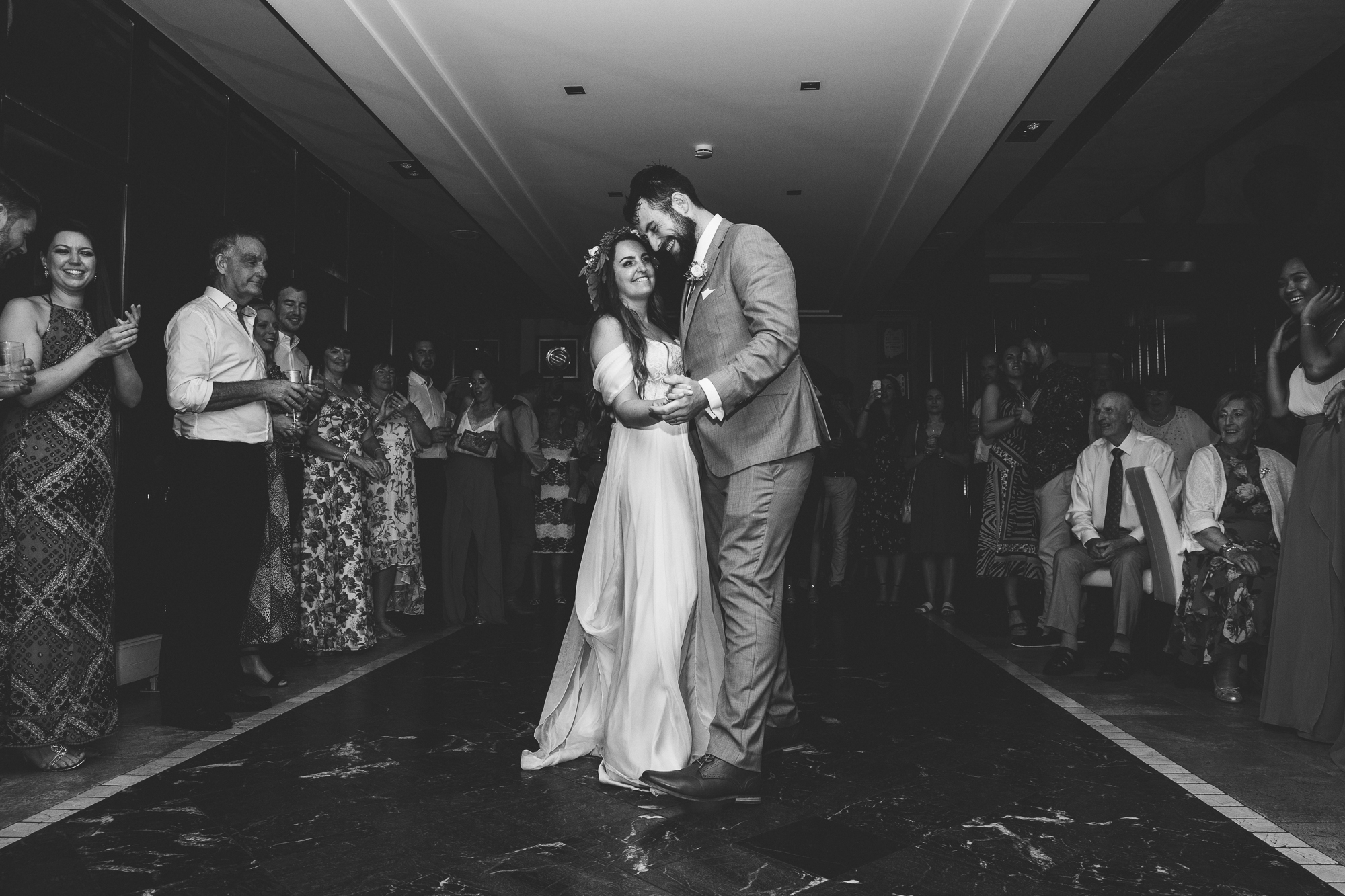 couple's first dance at Hotel Les Rotes in Denia wedding