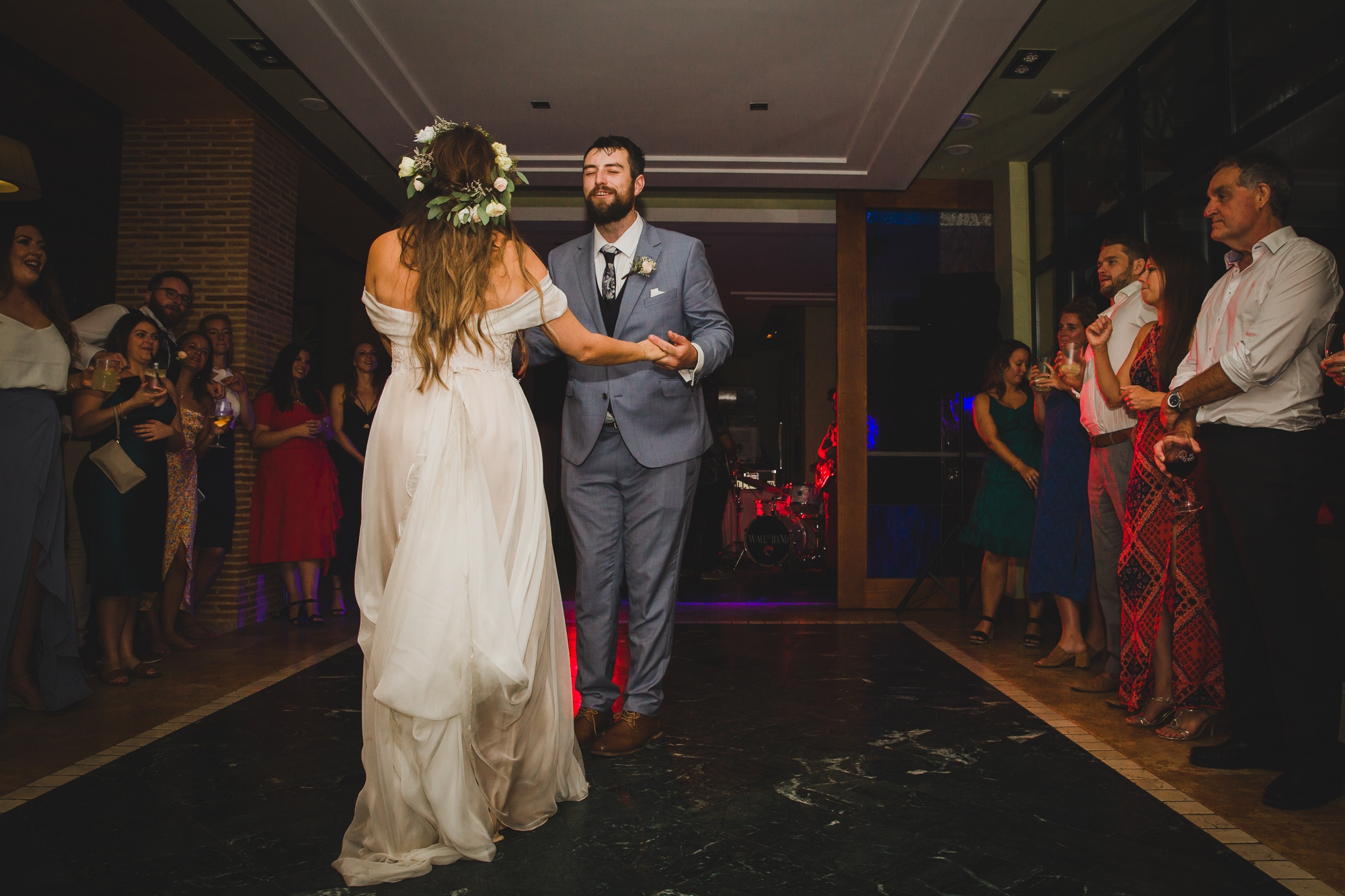 bride and groom dance at Hotel Les Rotes in Denia wedding