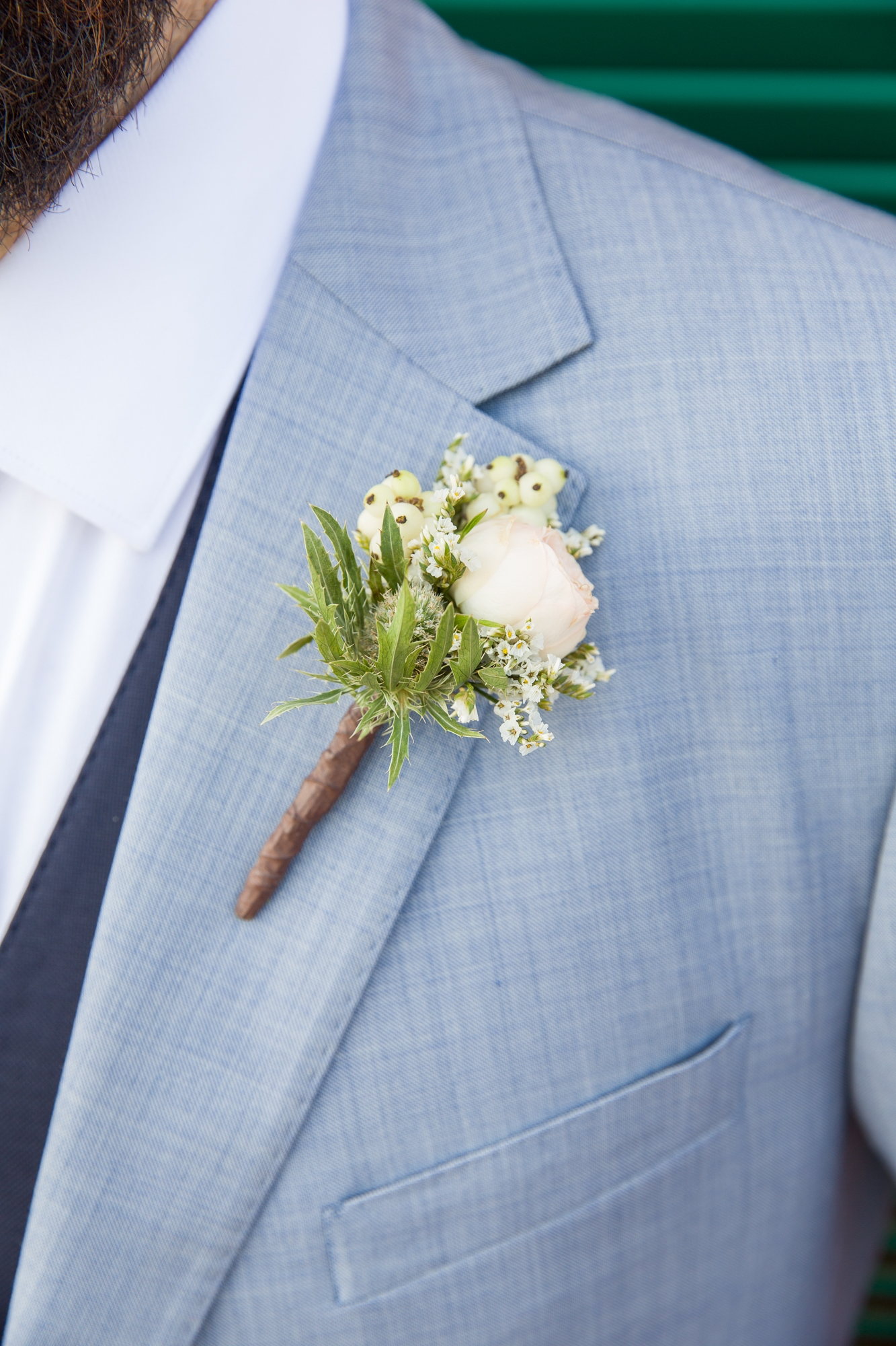 Buttonhole by La Toscana in Denia, Spain